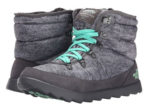 The North Face Thermoball Lace Heather Grey Surf Green