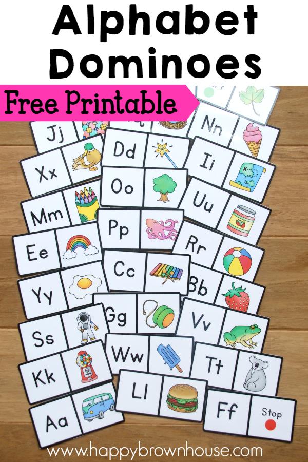 Alphabet Dominoes Busy Bag Printable alphabet, Busy bags
