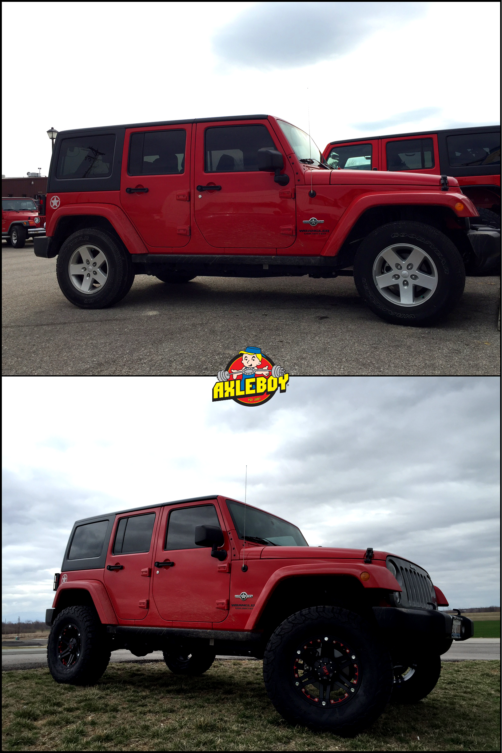 After picture of a 2014 jeep wrangler with a 3 5 aev dualsport