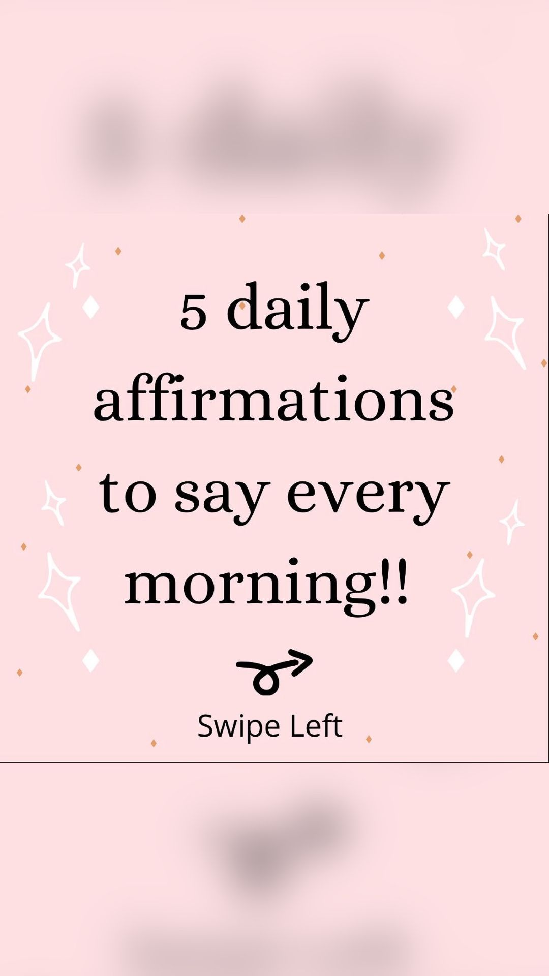 Five Daily Affirmations to say in the Morning