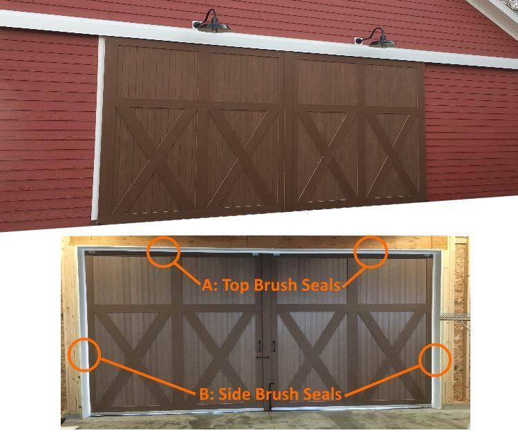 Add brush seals to your barn door to keep birds, weather