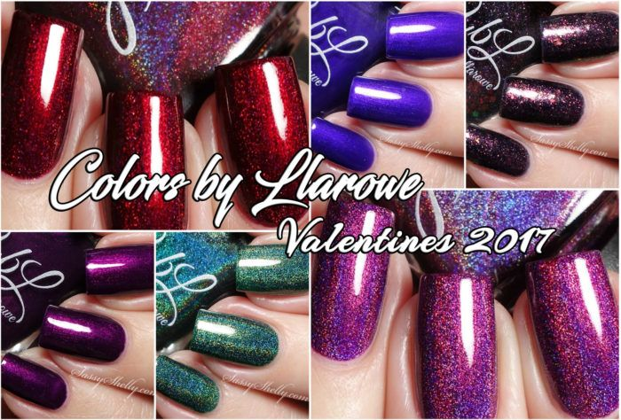 Colors by Llarowe - Valentines 2017 Collection - live swatches   Sassy Shelly