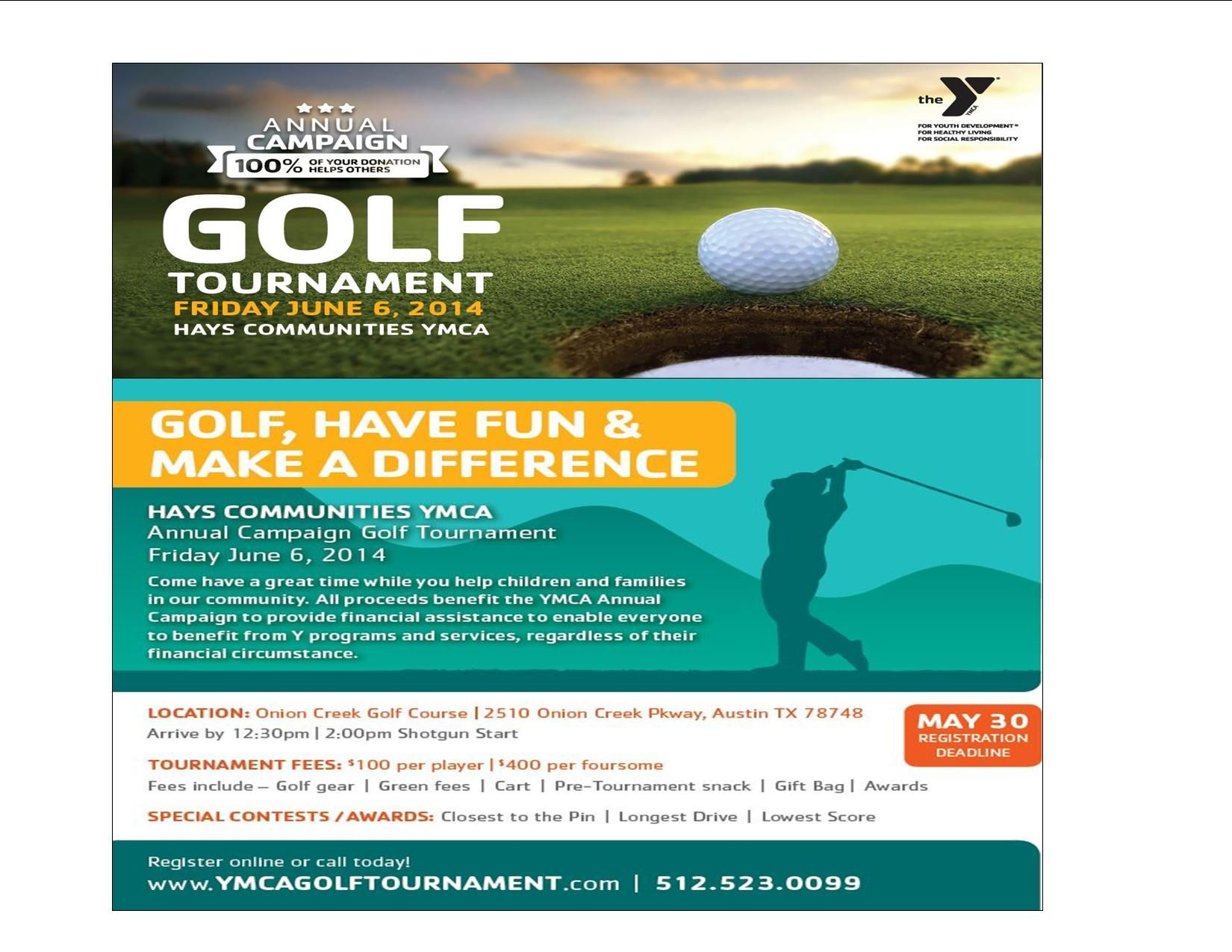 Hays Communities YMCA Annual Campaign Golf Tournament - Buda, TX