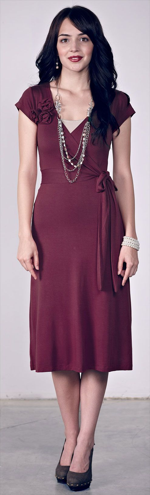 638ac6a6a5f89 Pin by Jen Clothing on LDS Modest Clothing | Maroon dress, Dresses ...