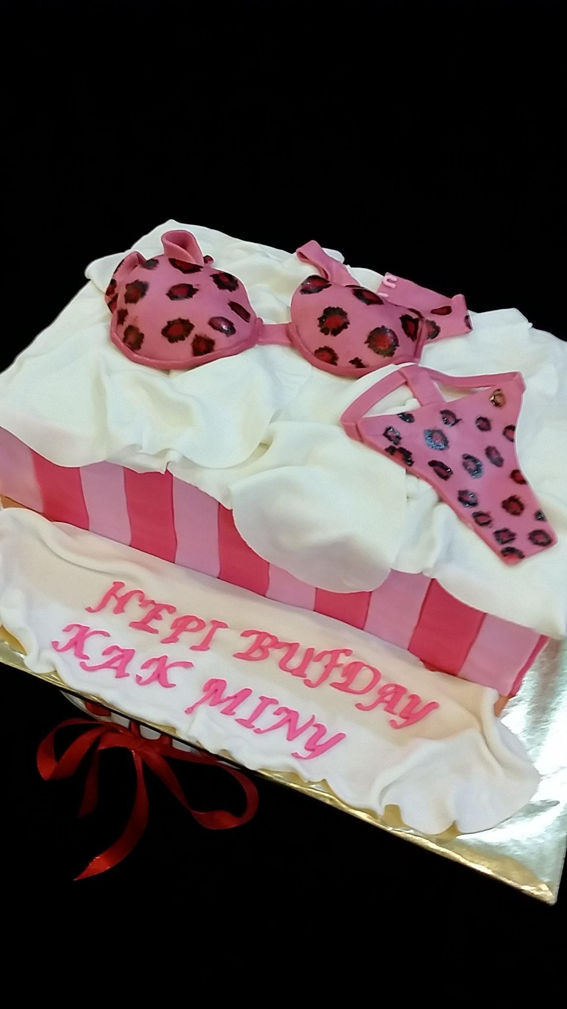 Pink Leopard Victoria Secret Lingerie #sweetcreation20 #cheesecake #victoriasecret #birthday