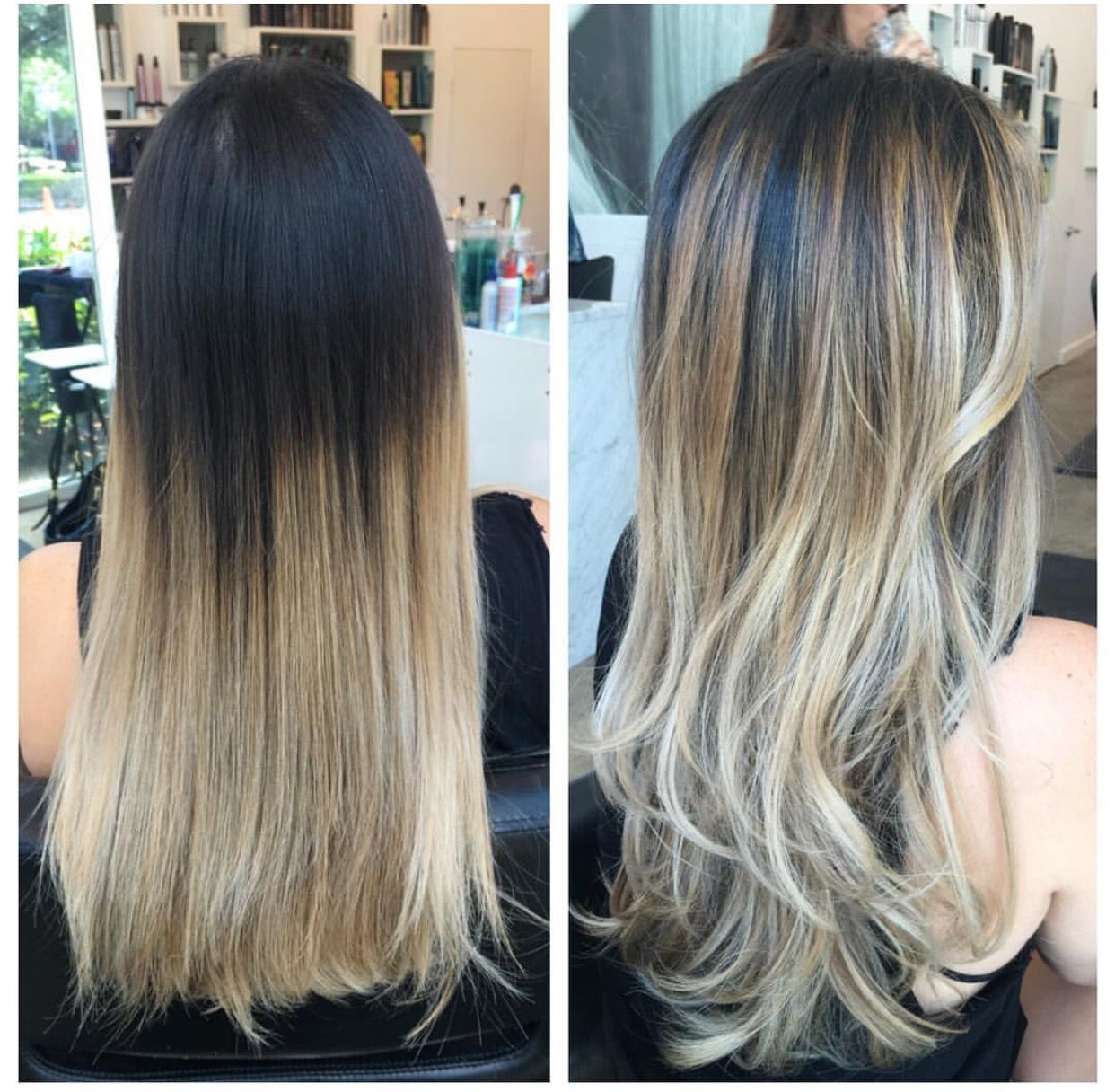 Dark brown to blonde ombr and balayage ombre balayage for Balayage braun blond