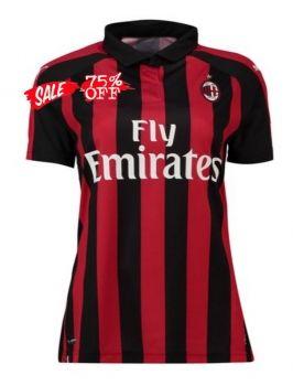 2018-19 Cheap Women Jersey AC Milan Home Replica Red Shirt  CFC710 ... d67ce36b74