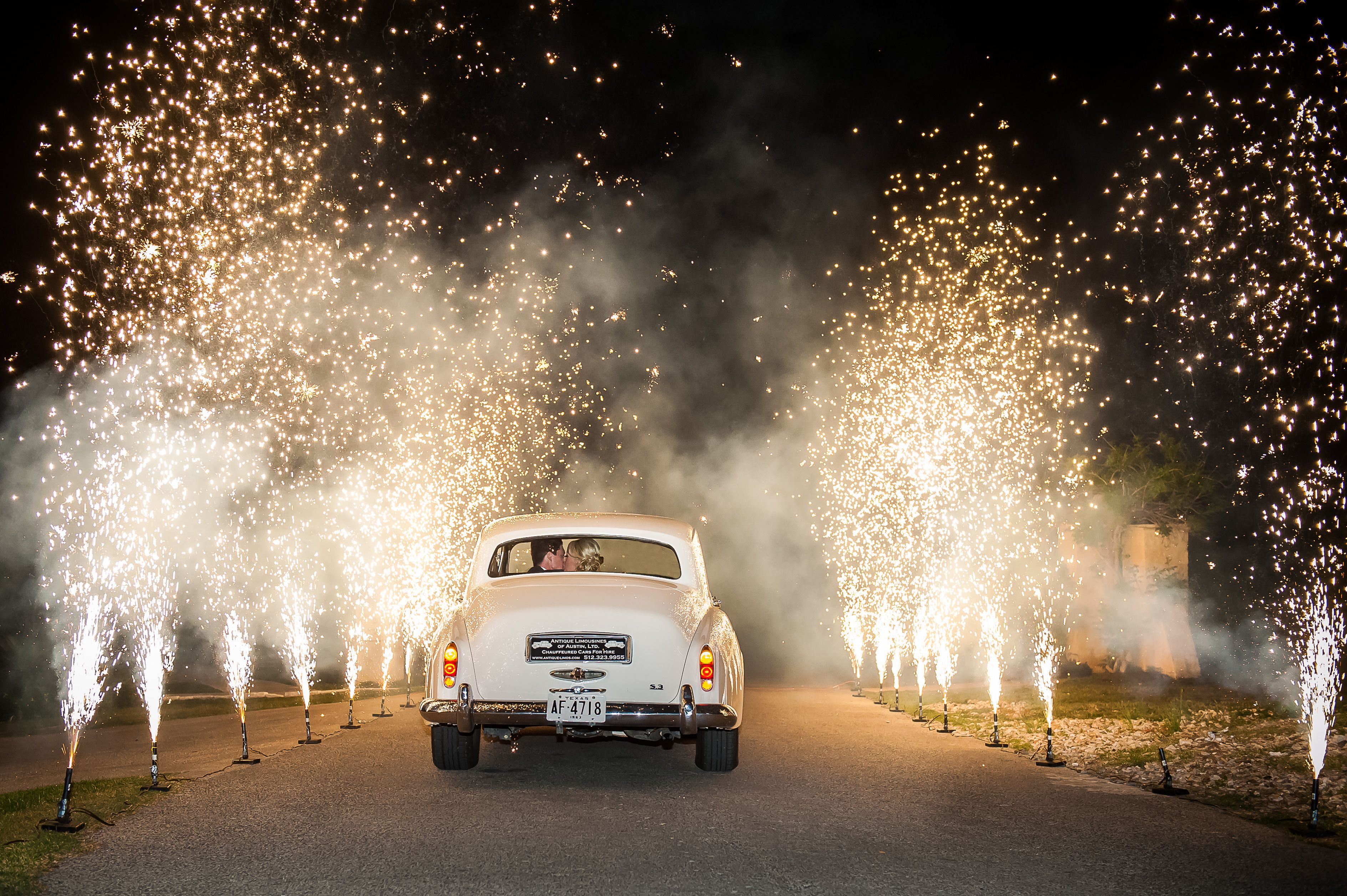 Fireworks Send off Gerbs My Best Friends Wedding Style