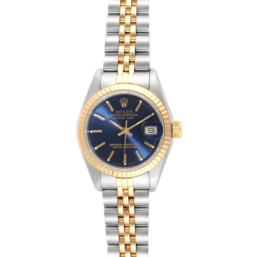 Rolex Datejust 26 Steel Yellow Gold Blue Dial Ladies Watch 69173 Swisswatchexpo Rolexwatches Rolex Datejust 26 Stee Rolex Watches Women Rolex Womens Watches