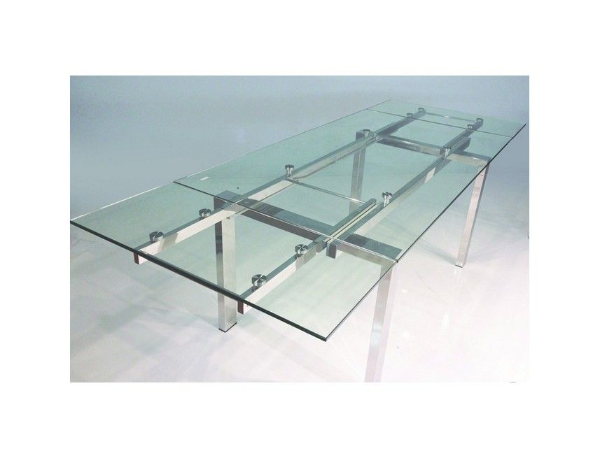 e67a1f4360f60 Cantro Table - Extendable Glass Dining Table