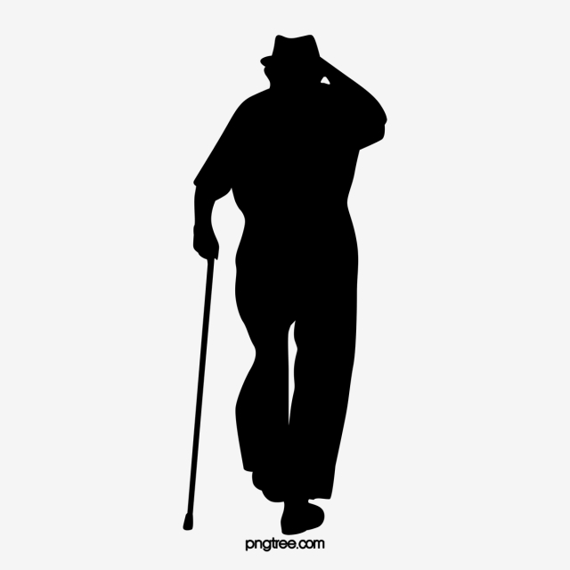 Silhouette Of Lonely Old Man Man Clipart Lonely Old Man Silhouette Png Transparent Clipart Image And Psd File For Free Download Silhouette Man Clipart Silhouette People