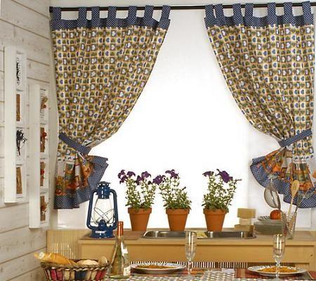 Cortinas para la cocina cómo elegirlas Cortinas Pinterest - cortinas para cocina modernas