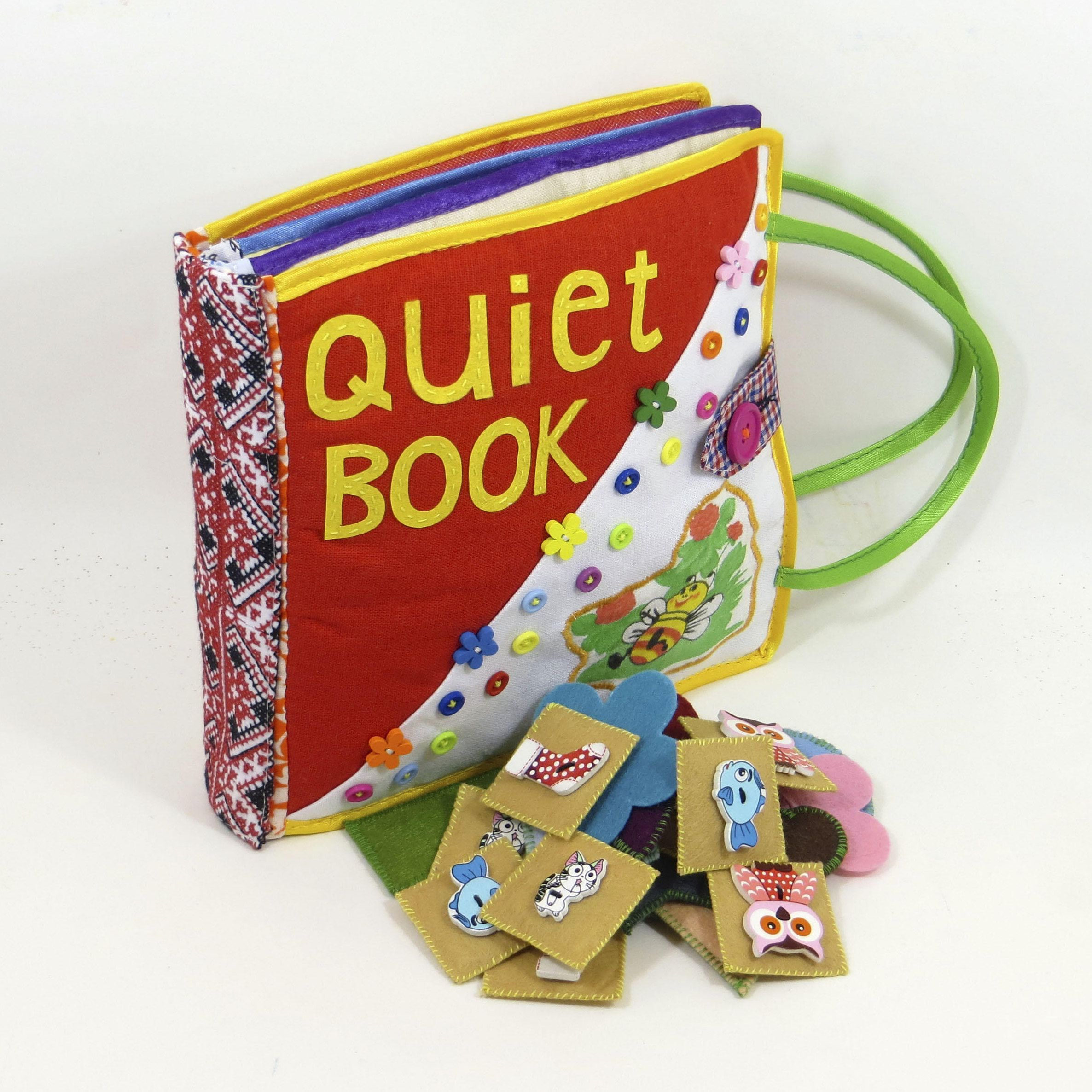 Quiet Book 6 pages Educational Fabric Activity Counting Skills