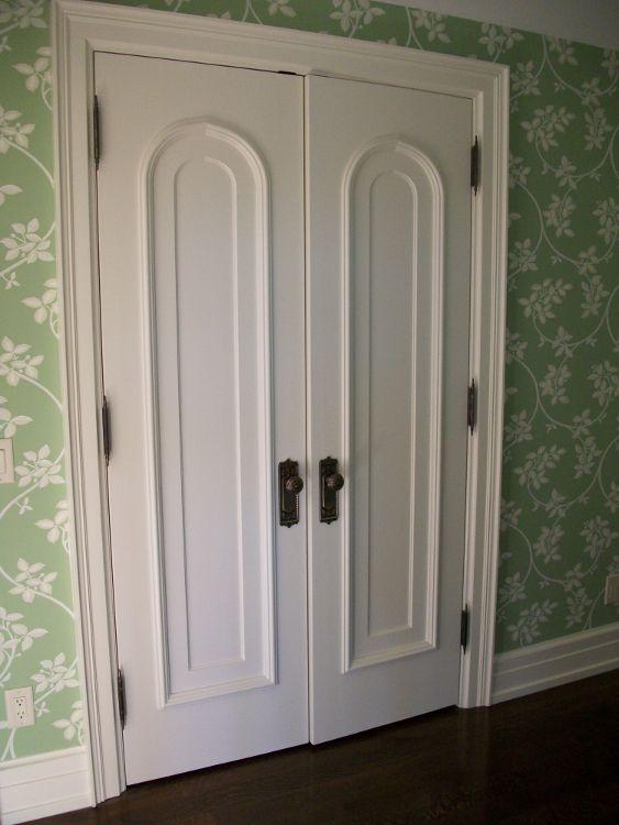 Custom Interior French Doors Beautiful Curved Trim Detail Buffalo Ny Quaker Millwork