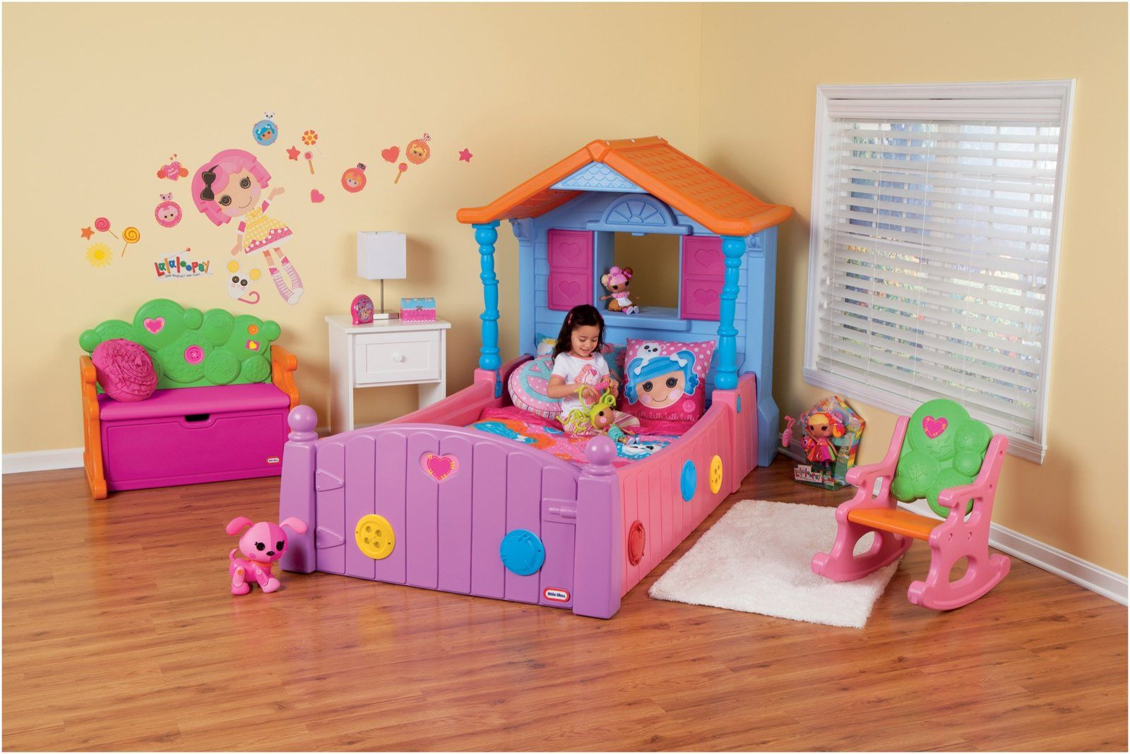 Little Tikes Lalaloopsy Twin Bed Kid, For her and Furniture