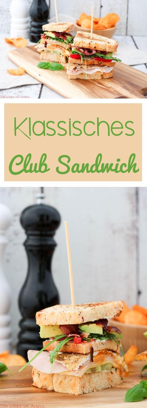 Klassisches Club Sandwich mit Chips #sandwichrecipes