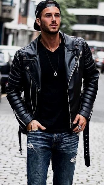 Men's leather jacket. Jackets really are a vital part of