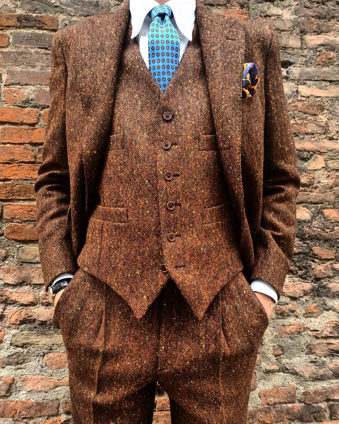 New Arrivals Irish Donegal Tweed Depaz Depazshop Depazstyle Newarrival Suit Britishgentleman Menwith Vintage Suit Men Fall Outfits Men Mens Tweed Suit