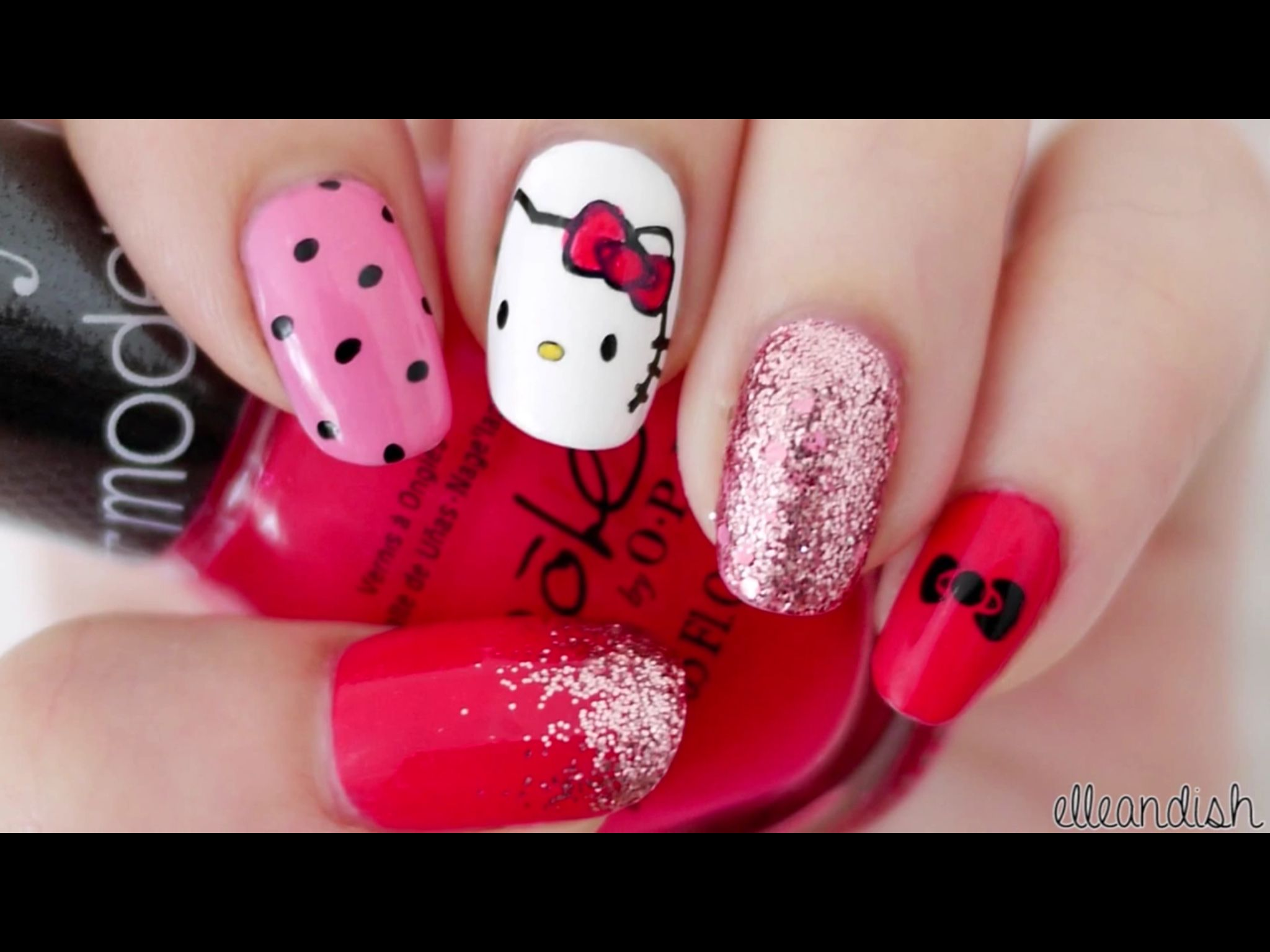Hello kitty inspired by: elleandish They are cute but TBH the colors ...