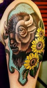 Beautiful Buffalo Tattoo Tattoos Bull Tattoos