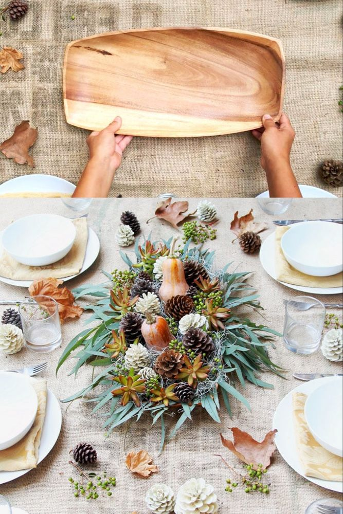 Beautiful DIY Thanksgiving Table Decoration For 1 (SO