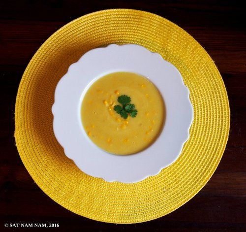 corn coconut soup
