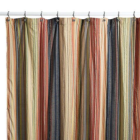 With A Retro Yarn Dyed Stripe Design This Shower Curtain Will Be