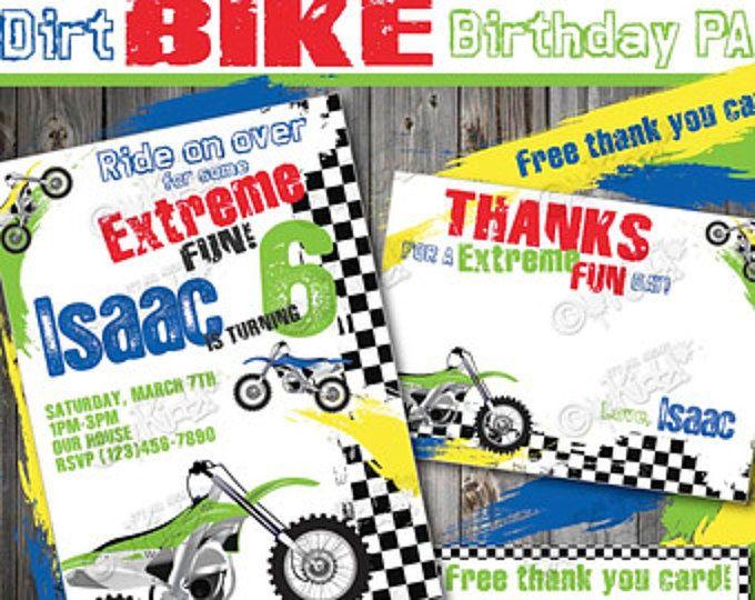 Dirt Bike Birthday Invitation DIY Party Printable Invite