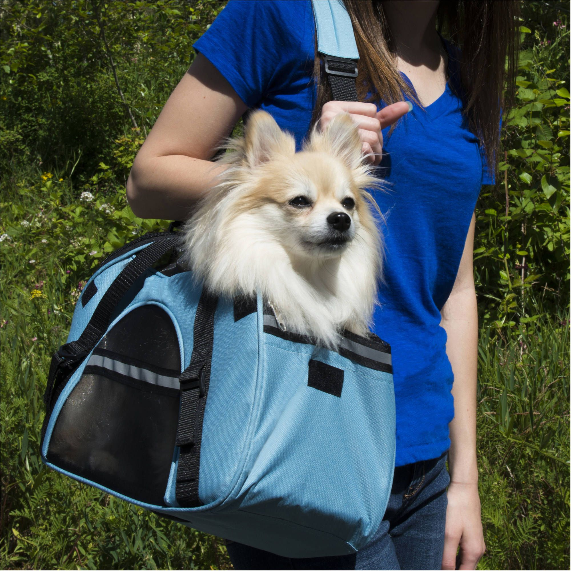 Furhaven pet tote pet tote with weather guard black