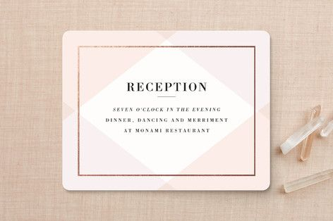 """Creme Brulee"" - Elegant Reception Cards in Mint by chocomocacino."