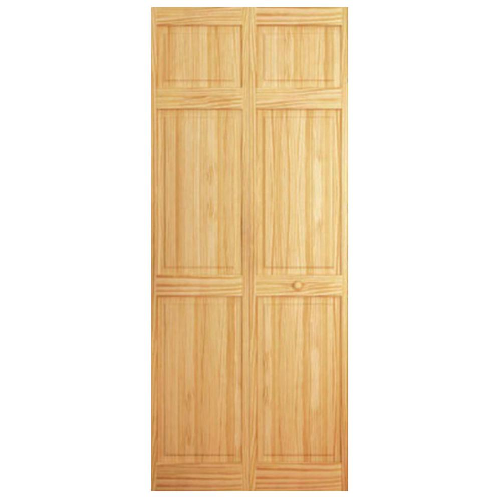 Kimberly Bay 32 In X 84 In 6 Panel Solid Wood Core Pine Interior Closet Bi Fold Door Dpbt6pc3284 Bifold Doors Bifold Closet Doors Wood Doors Interior