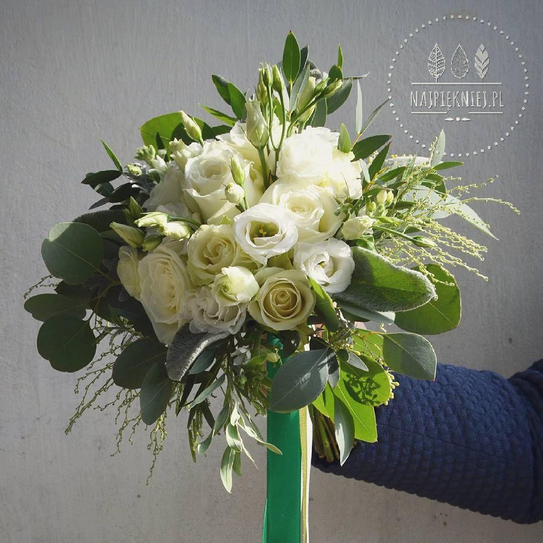 Bukiet Slubny Justyny Wedding Wesele Slub Bouquet Bukiet Dekoracje Autumn Jesien White Green W Wedding Bouquets Beautiful Flowers Floral Wreath