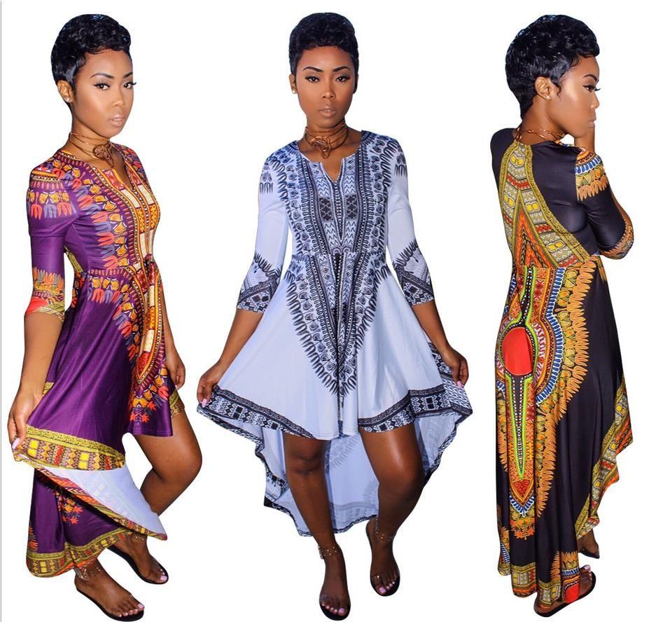 Hot sale women traditional african print dashiki maxi long dress