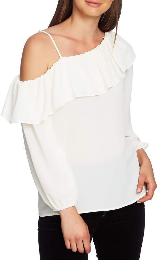 a5758bcedd7 1 STATE 1.STATE One-Shoulder Ruffle Edge Blouse | Products in 2019 ...