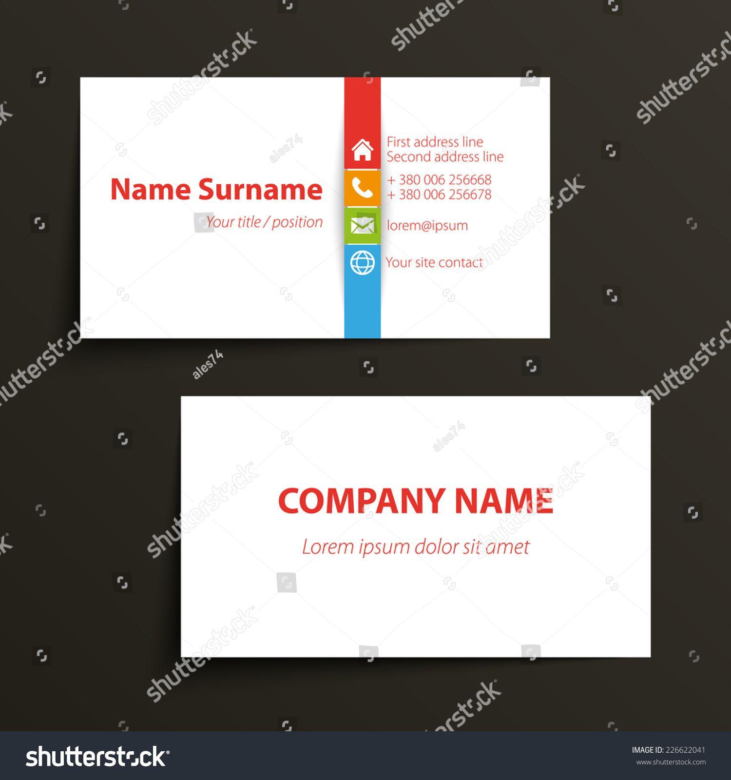 Einfache Business Card Vorlage Photoshop Sowie Minimale