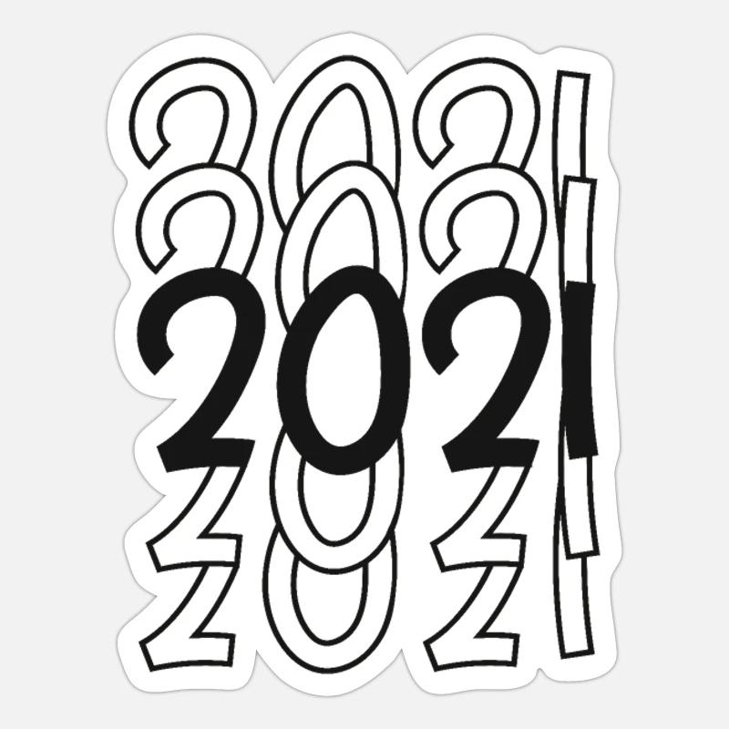 '2021' Sticker