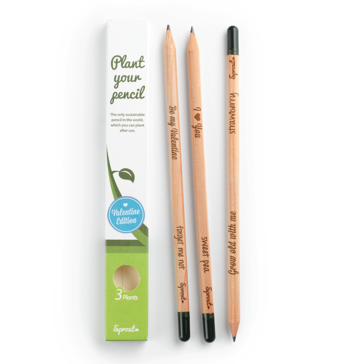 Sprout Pencil Valentine Edition Pack Of 3
