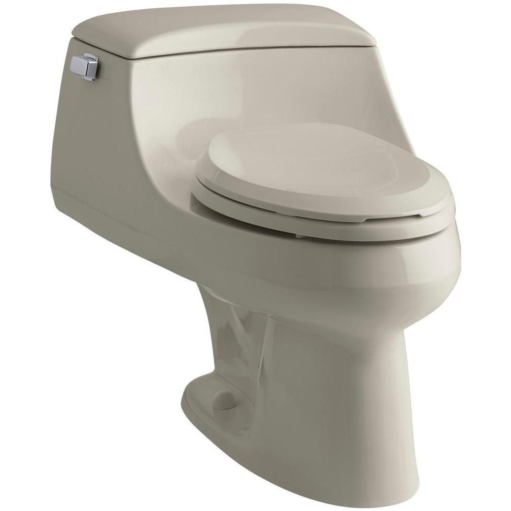 Kohler San Raphael 1 Piece 1 6 Gpf Single Flush Elongated Toilet
