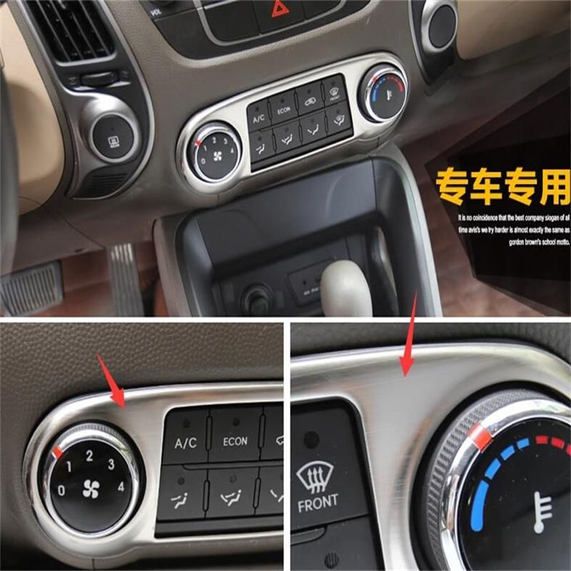 Abs Chrome Auto Central Control Air Conditioning Panel Button