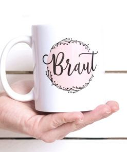 Zauberhaftes Geschenk für die Braut – Tasse *Braut
