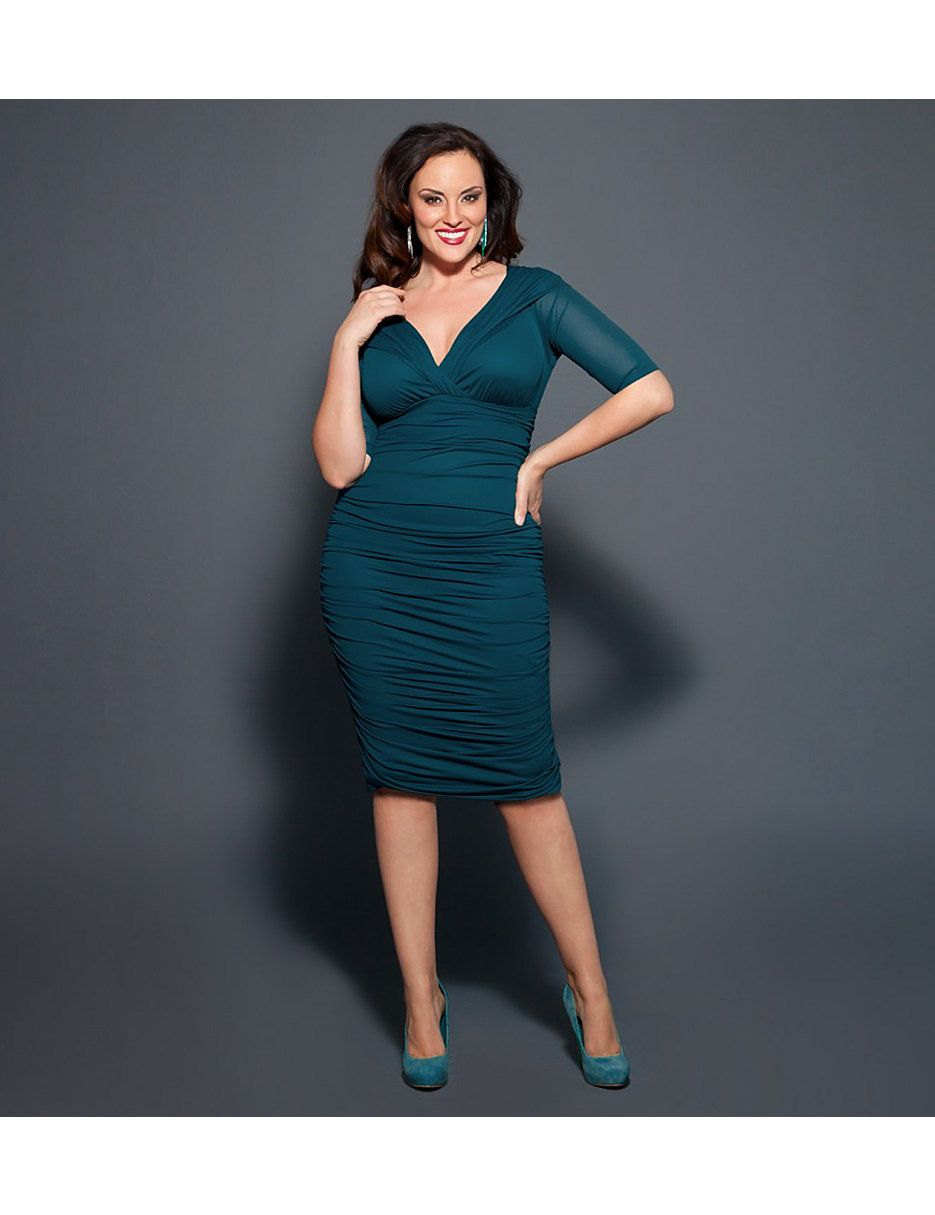 Betsey ruched dress by kiyonna hair and beauty pinterest size