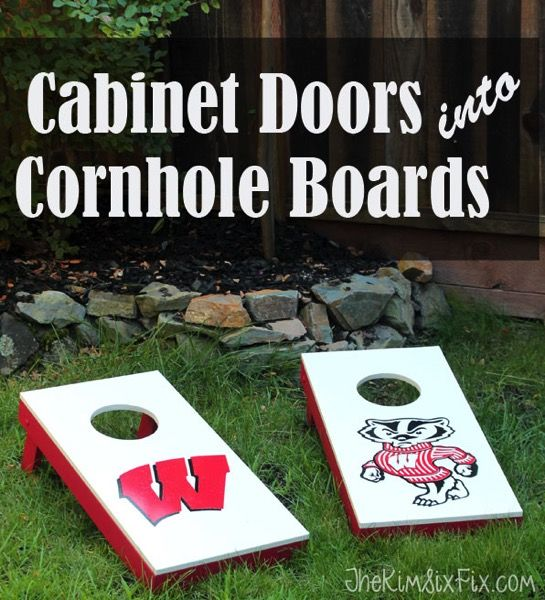 DIY Cornhole Boards from Cabinet Doors