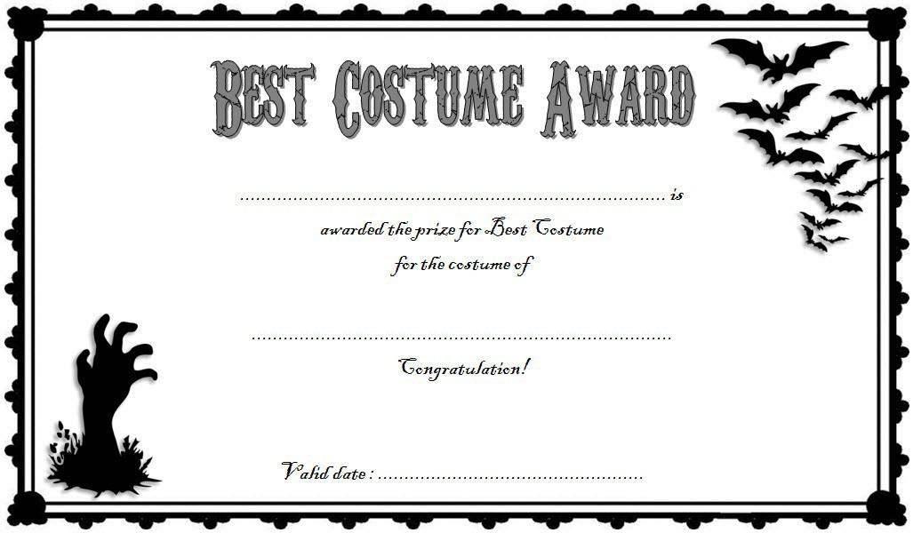 Halloween Costume Certificate Template Free 1 Halloween Costume Contest Winners Certificate Templates Halloween Costumes