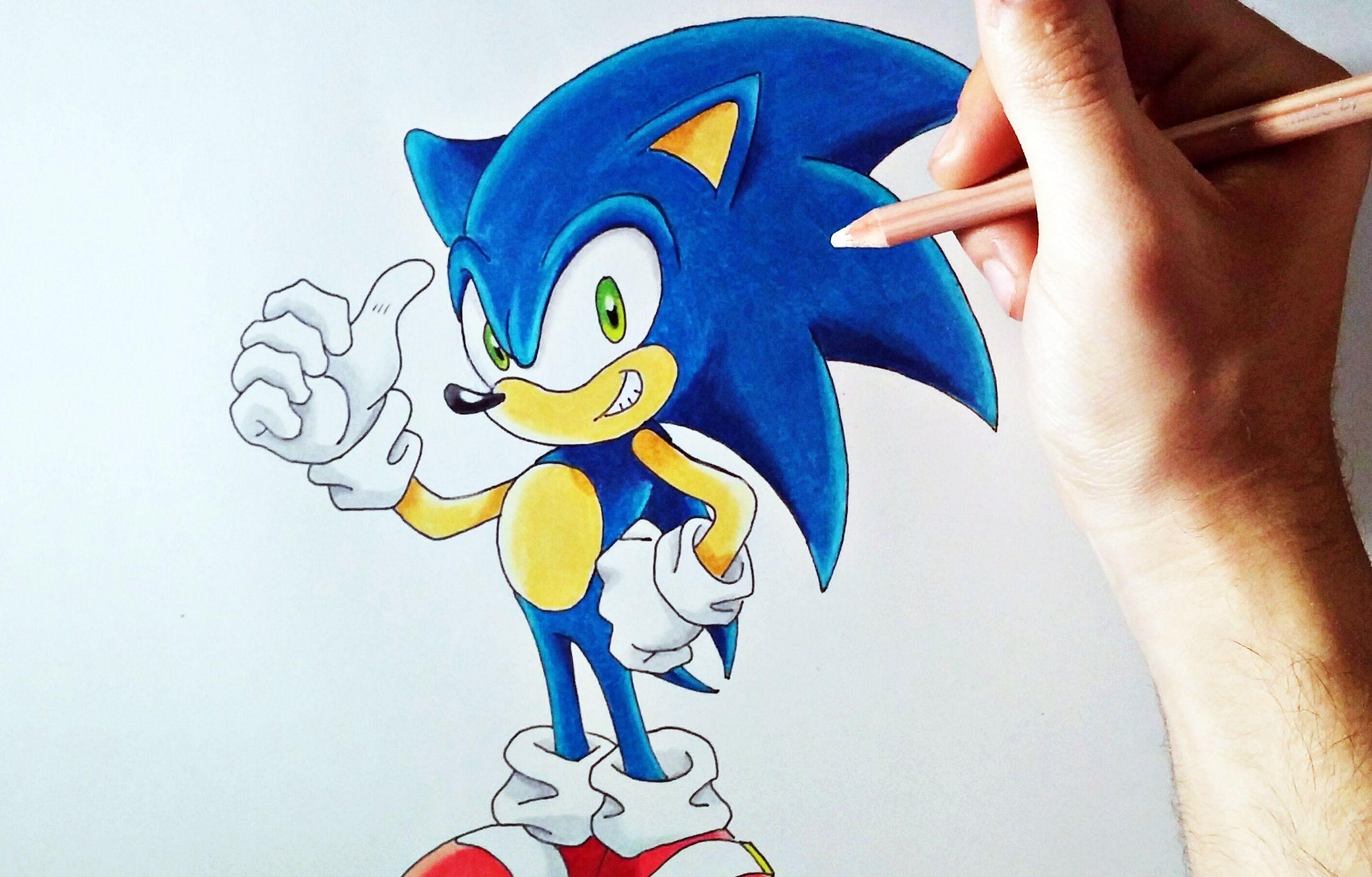 Dibufacil Aprende A Dibujar A Sonic Para Principiantes Artemaster Aprender A Dibujar Dibujos De Colores Materiales De Dibujo