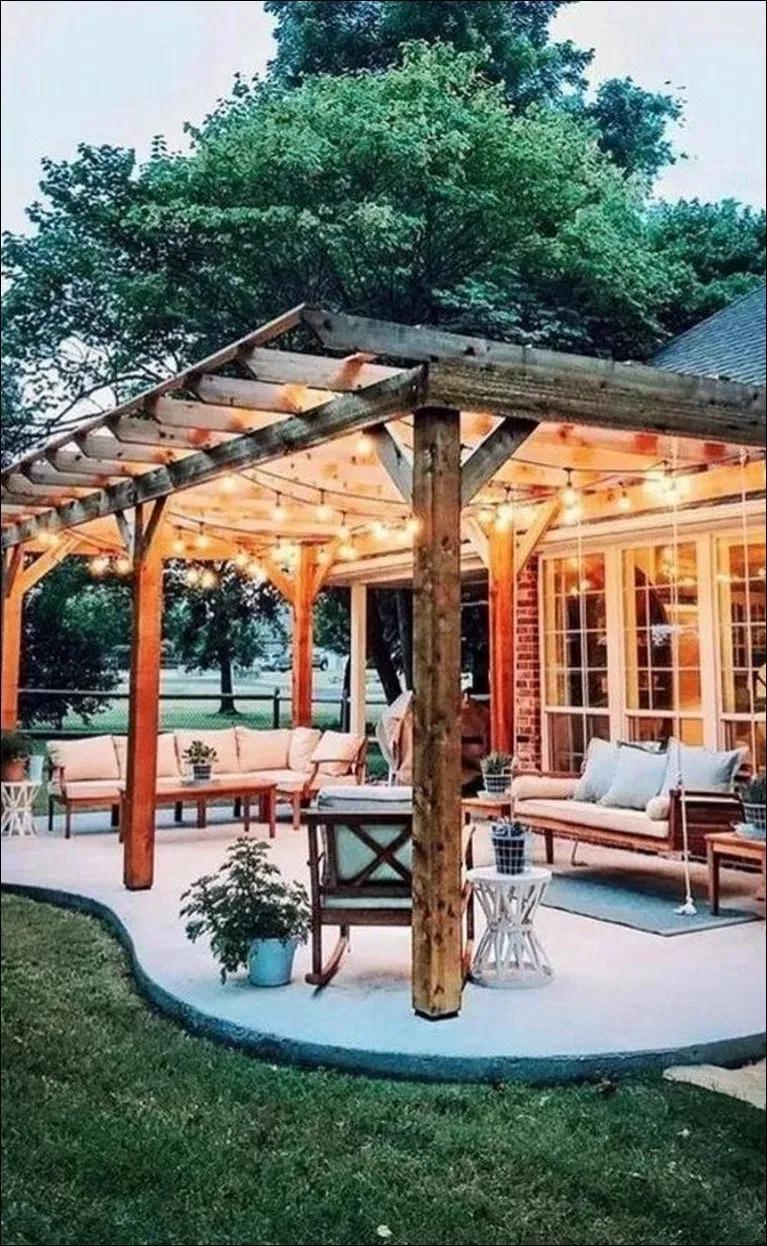 11+ awesome backyard patio deck design and decor ideas 11