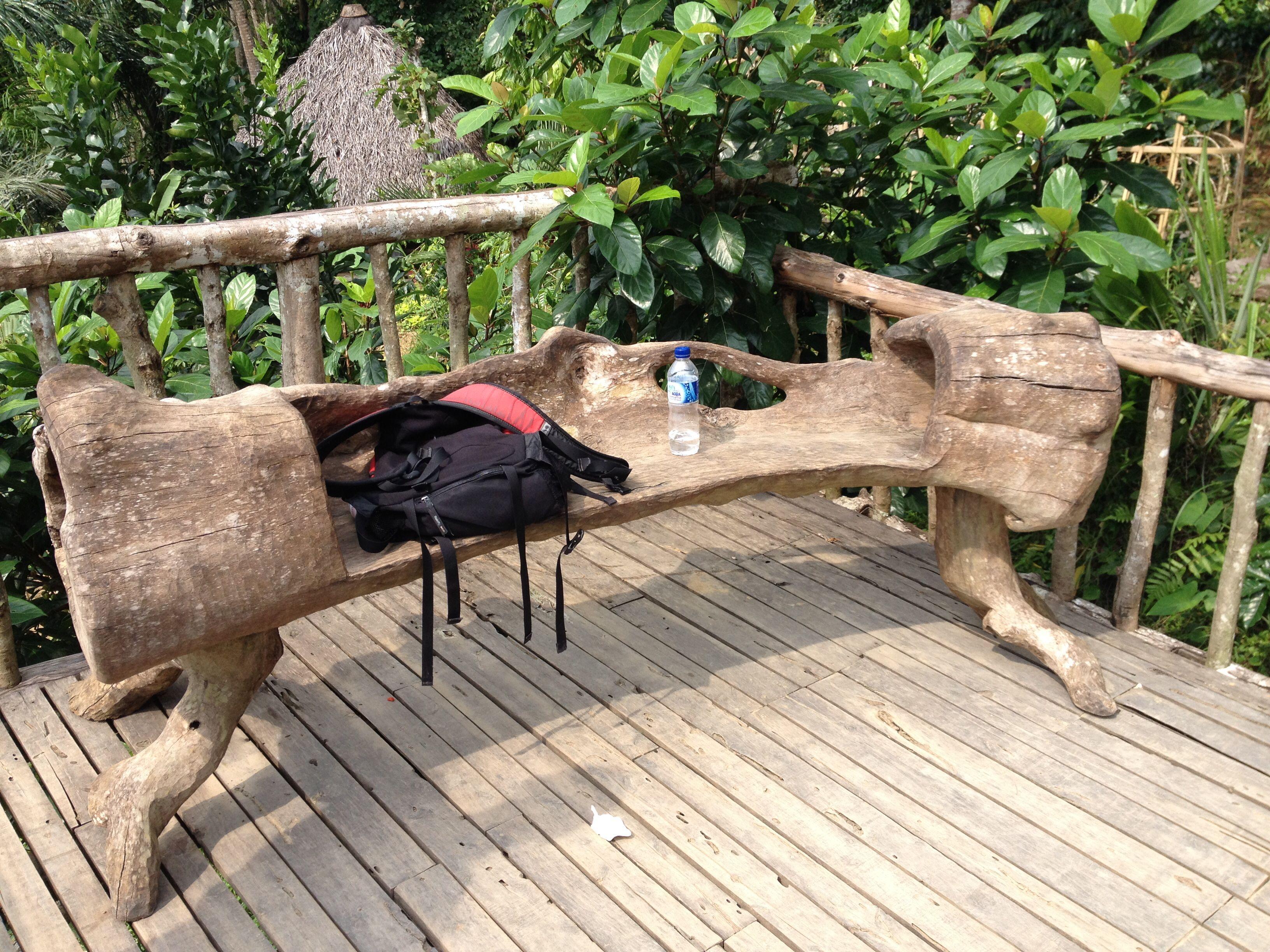 Log bench For My Castle Pinterest