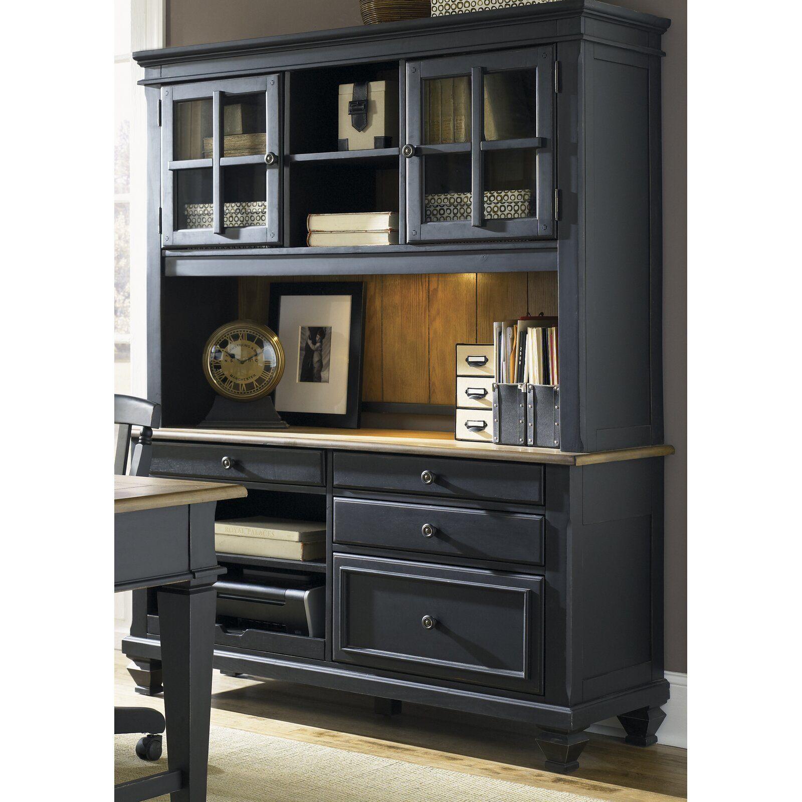 Beachcrest Home Mason 2 Piece Desk Office Suite