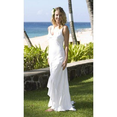Hawaiian White Dresses Weddings
