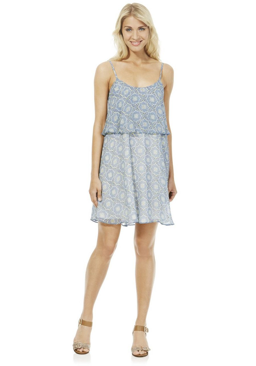 Clothing At Tesco F F Tile Print Double Layer Dress Dresses