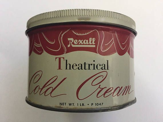 Vintage tin Rexall brand cold cream 1950 empty and clean